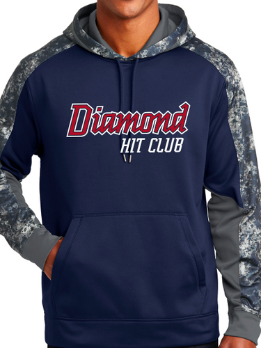 Diamond Hit Club Sport-Wick Mineral Freeze Fleece Colorblock Hooded Pullover