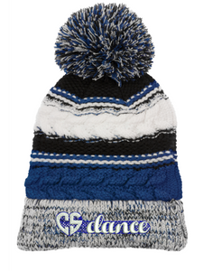 CS Dance Heart Pom Pom Team Beanie
