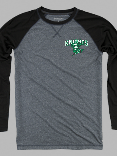 Nordonia Knights Men's Chest Logo Double Play Long Sleeve T