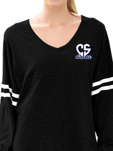 CS Dance Heart Dancer V-Neck Slub Pom Pom Jersey