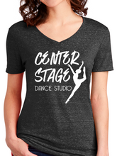 Load image into Gallery viewer, Center Stage Dance Studio Snowy Heather V Neck T Shirt