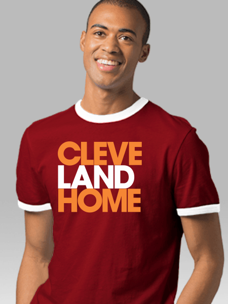 Men's Cleveland Home Ringer T