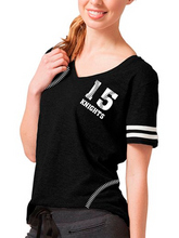 Load image into Gallery viewer, Nordonia Women's Baseball Stitching Sporty Slub T