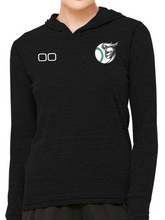 Load image into Gallery viewer, Nordonia Baseball & Number Triblend Long Sleeve Hooded Pullover
