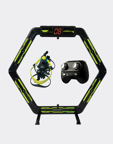 Air Hover Racer R/C Drone Racer with Digital Lap Counter