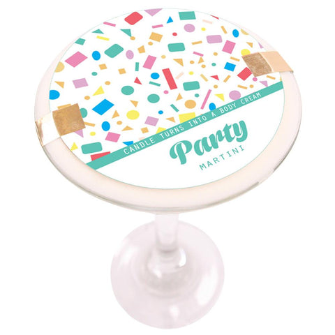 Party Martini Soy Massage Candle Product