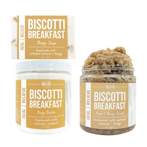Biscotti Breakfast Scrub, Body Butter & Soap Gift Set