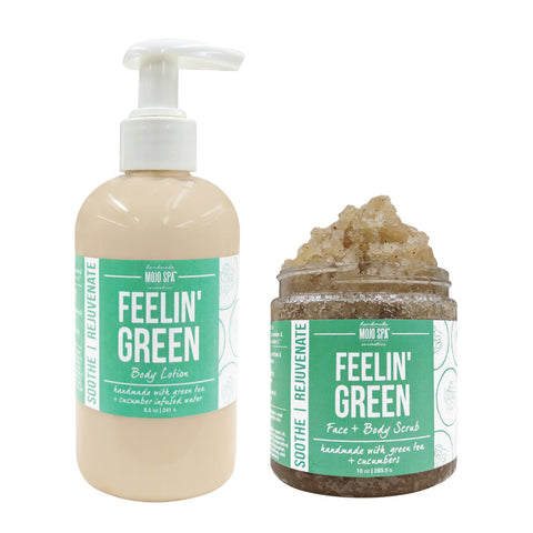 Feelin Green Scrub & Lotion Gift Set