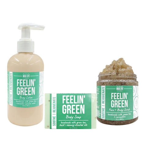 Feelin Green Scrub, Lotion & Soap Gift Set