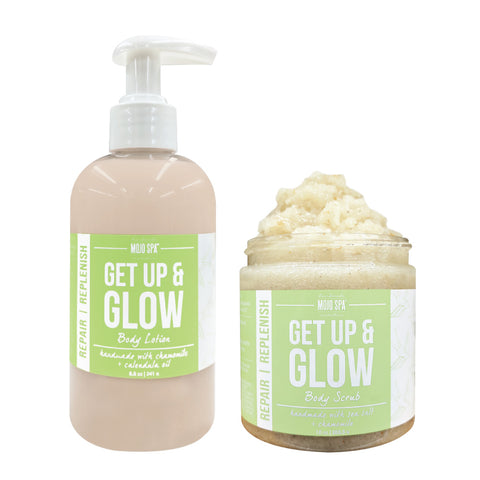Get Up & Glow Scrub & Lotion Gift Set