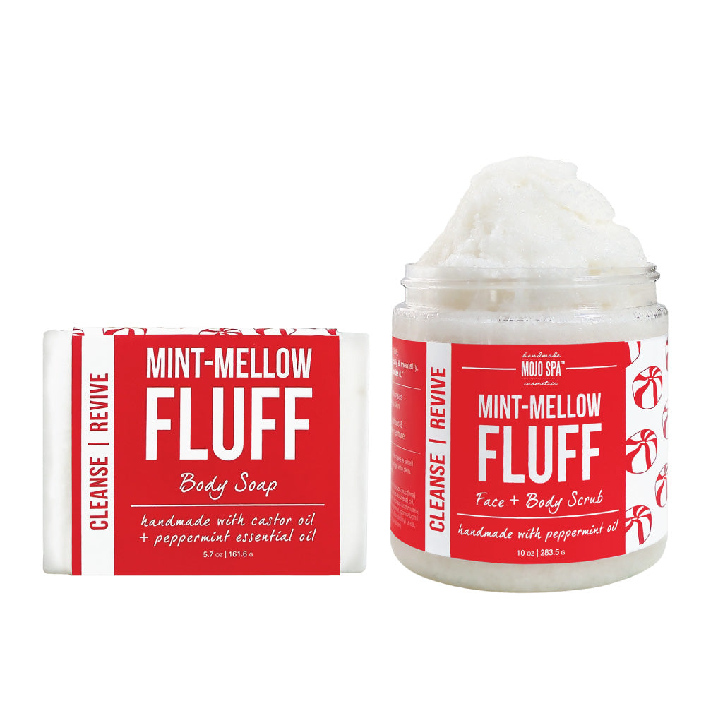 Mint Mellow Fluff Scrub & Soap Gift Set