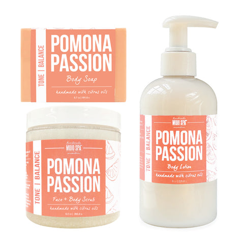 Pomona Scrub, Lotion & Soap Gift Set