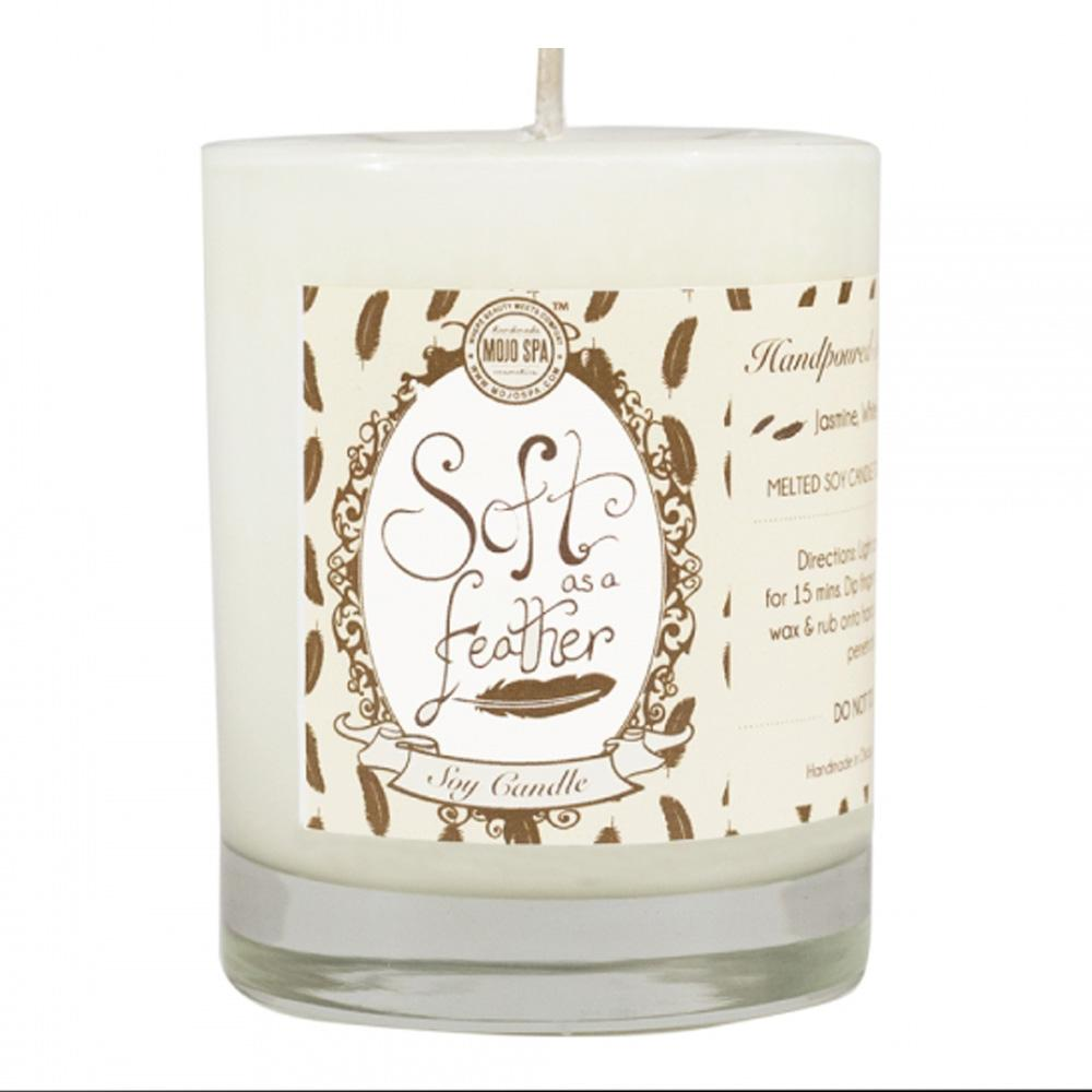 Soft as a Feather Soy Massage Candle Product