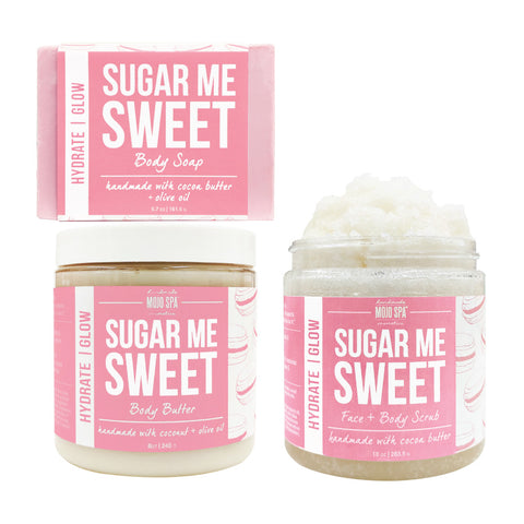 Sugar Me Sweet Scrub, Body Butter & Soap Gift Set