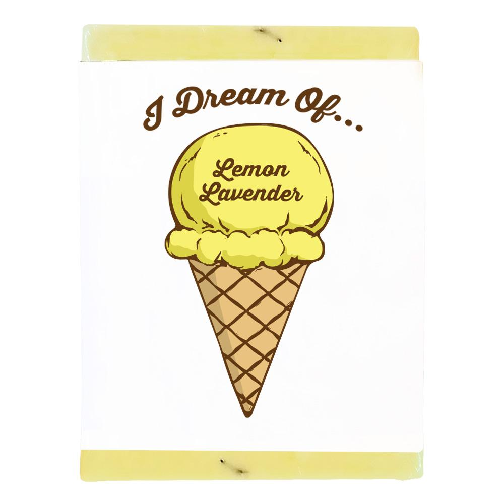 Lemon Lavender Ice Cream Body Soap Product