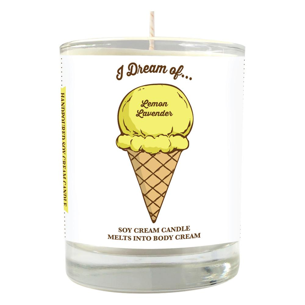 Lemon Lavender Ice Cream Soy Massage Candle Product