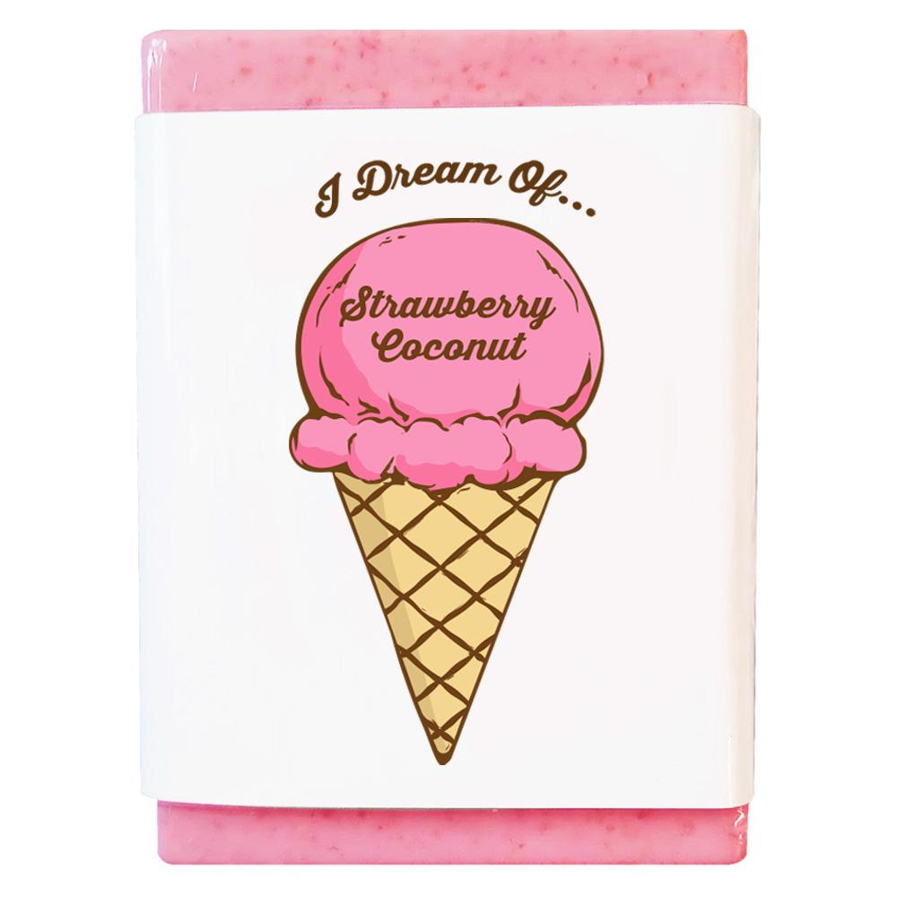Strawberry Coconut Ice Cream Body Soap Product
