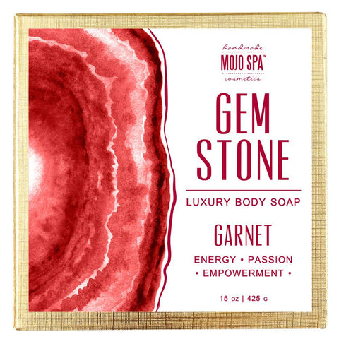 Garnet Gemstone Luxury Body Soap Product