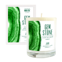 Jade Gemstone Luxury Soy Massage Candle