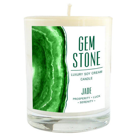 Jade Gemstone Luxury Soy Massage Candle Product