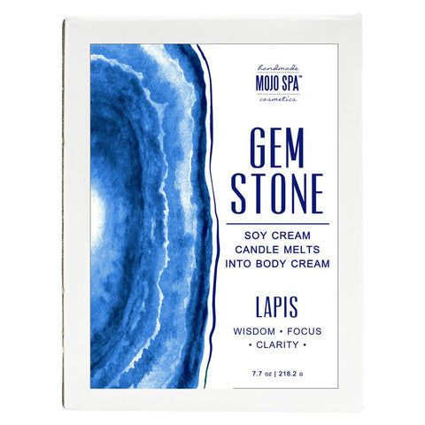 Lapis Gemstone Luxury Soy Massage Candle Product