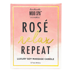 Rosé. Relax. Repeat. Candle