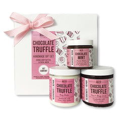 Chocolate Truffle Scrub, Body Butter & Facial Mask Gift Set