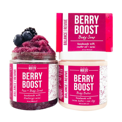 Berry Boost Scrub, Body Butter & Soap Gift Set Product