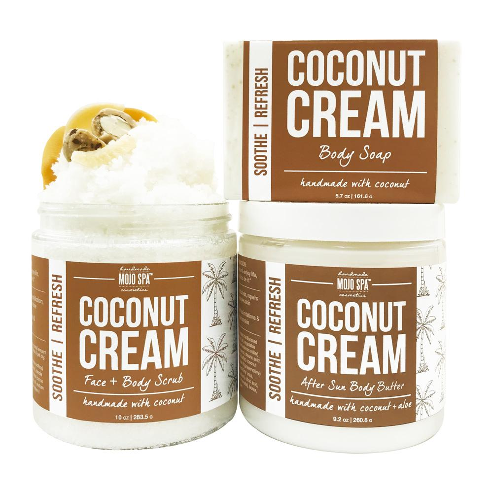 Coconut Cream Scrub, Body Butter & Soap Gift Set Product