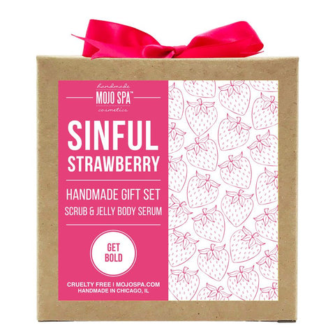 Sinful Strawberry Scrub & Jelly Body Serum Gift Set Product