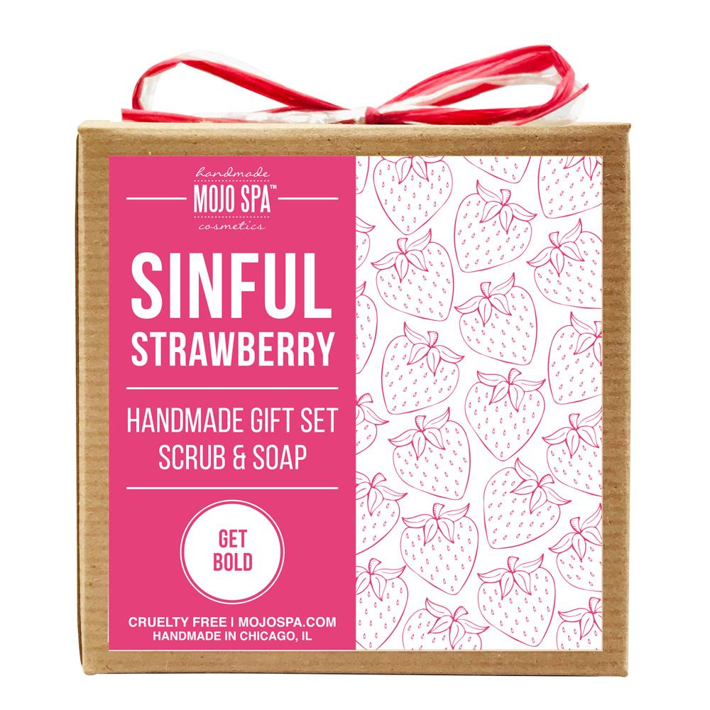 Sinful Strawberry Scrub & Soap Gift Set Product
