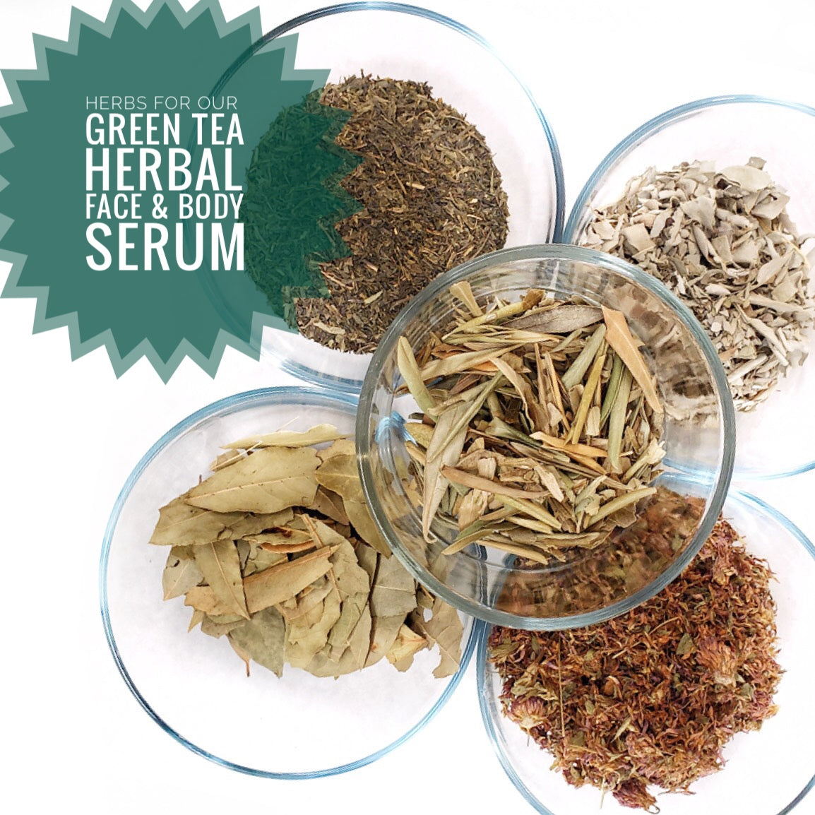 Green Tea Herbal - Face & Body Serum Experiment