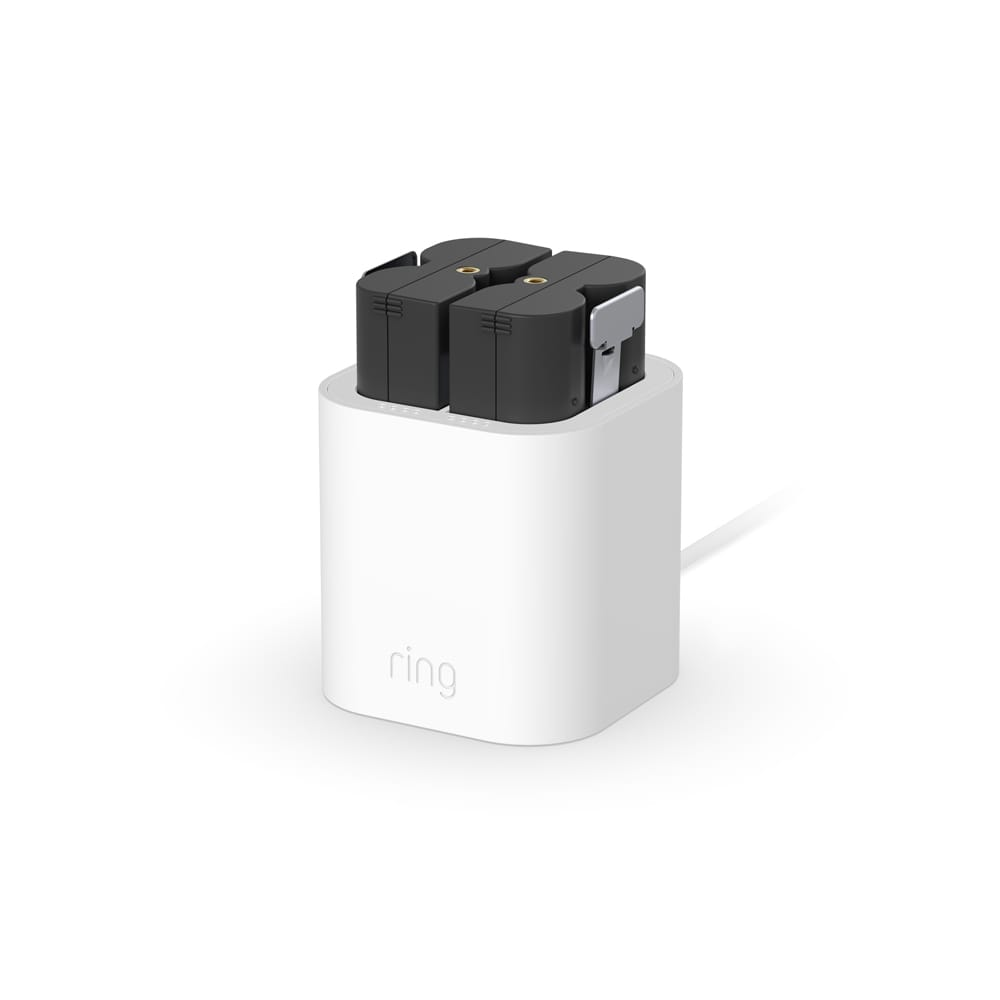 Charging Station + 2 Quick Release Battery Packs - White