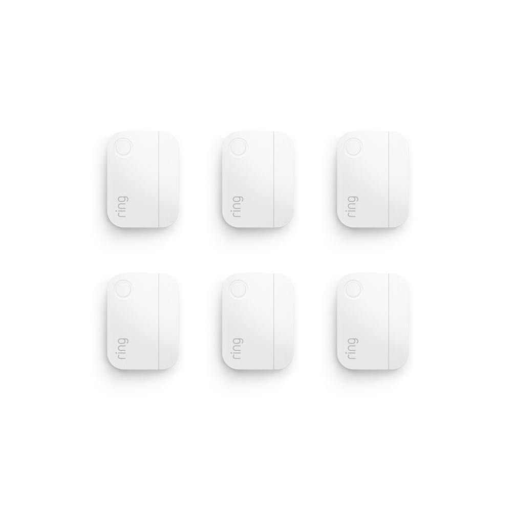 6-Pack Alarm Window and Door Contact Sensor (for 2nd Generation) - White