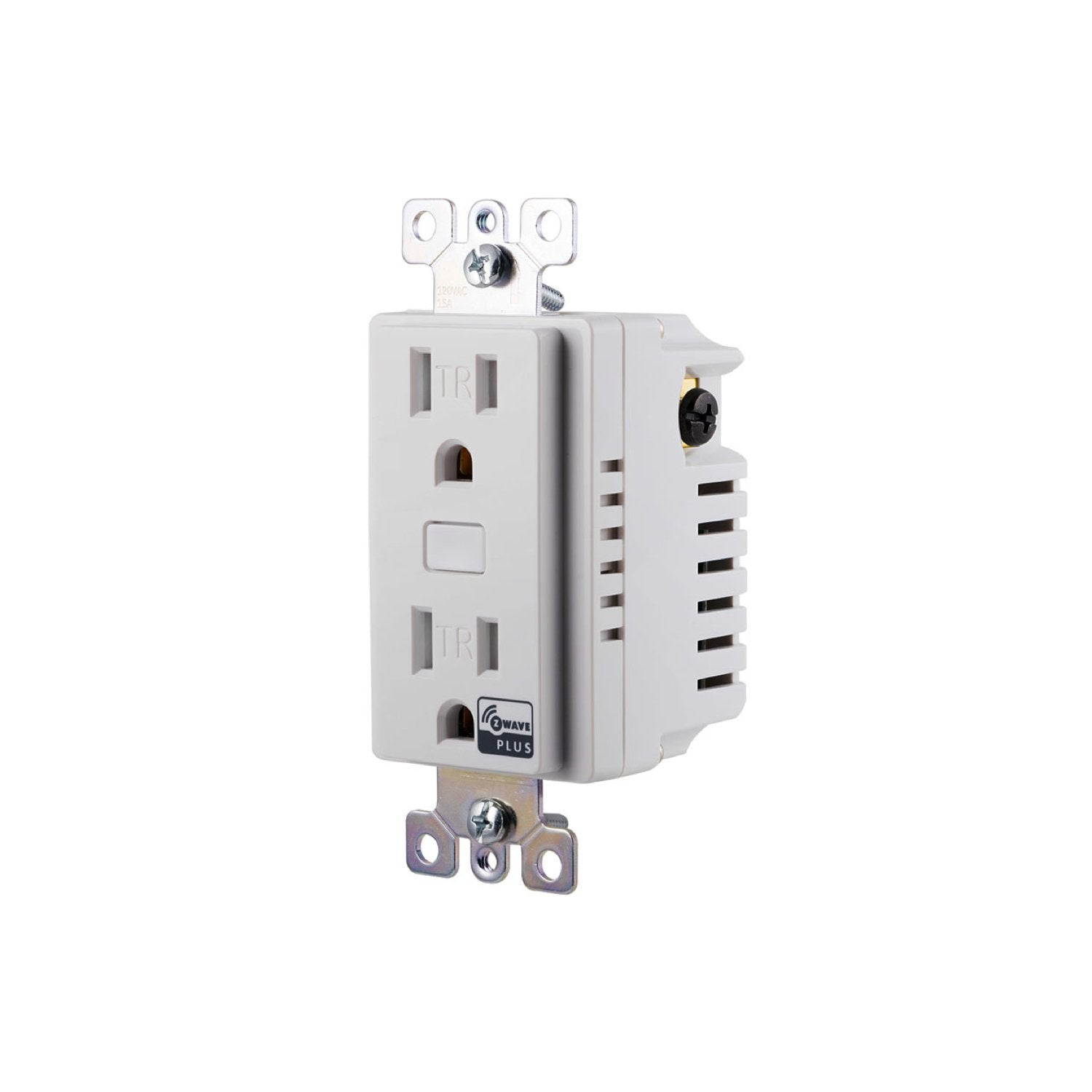 GE In-Wall Smart Outlet (for Works with Ring Alarm Security System) - White