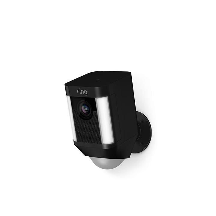 Ring Spotlight Indoor/Outdoor 1080p Wi-Fi Wireless Security Camera - Black