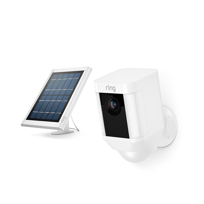 Ring Spotlight Cam Wireless Security Camera + Solar Panel + Ring Assist+