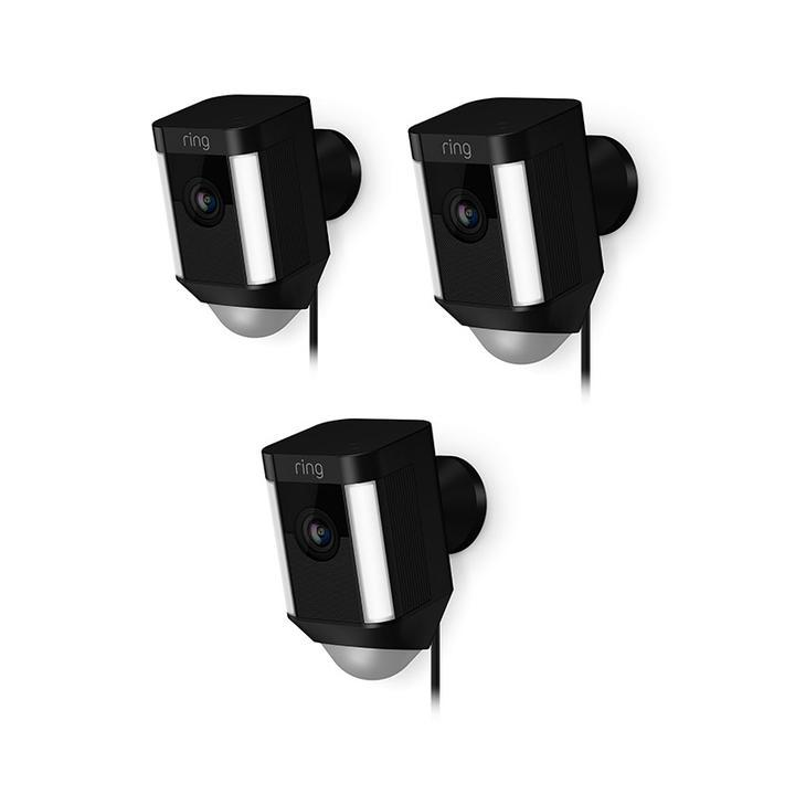 3-Pack Spotlight Cam Wired - Black