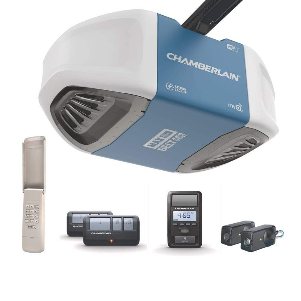 Chamberlain® Ultra-quiet belt drive Wi-Fi® Garage Door Opener (for Works with Ring) -