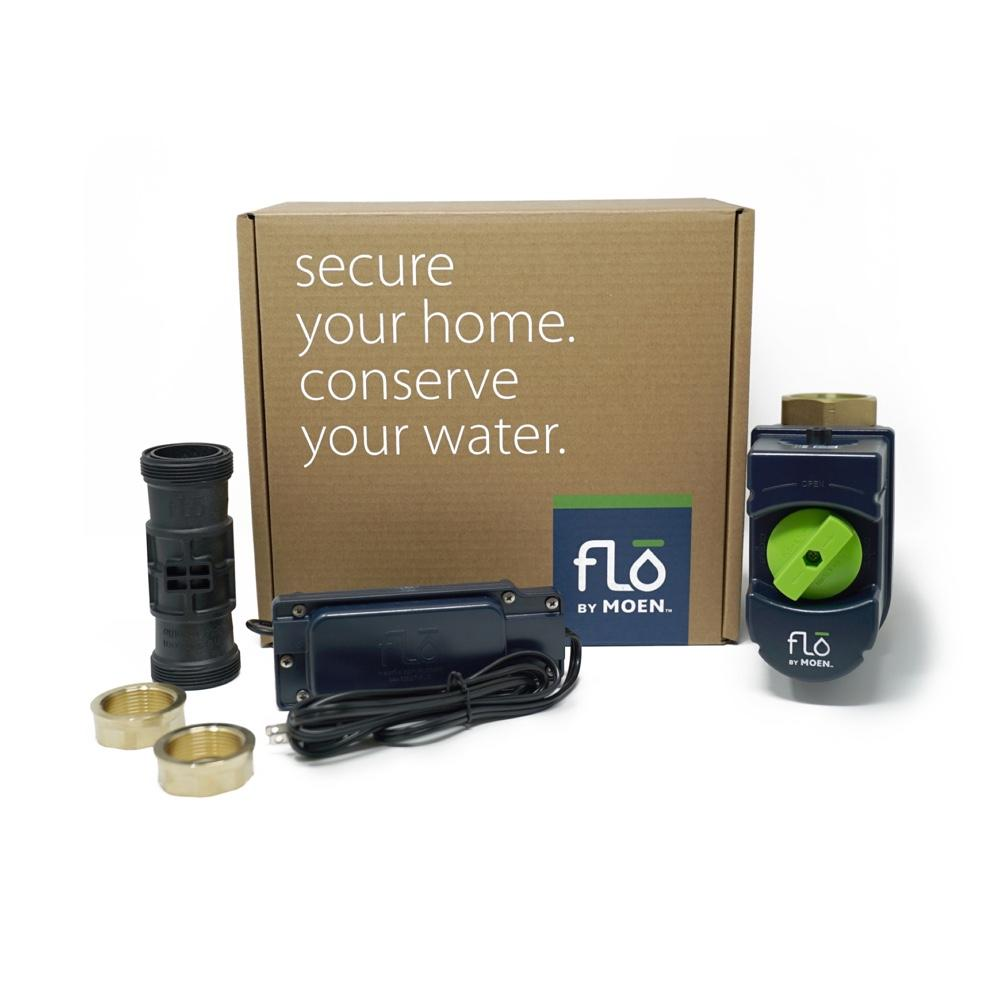 Flo by Moen 1-1/4-Inch Smart Water Shutoff (for Works with Ring) -