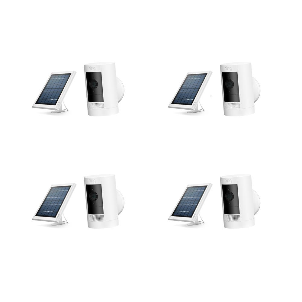 4-Pack Stick Up Cam Solar - White
