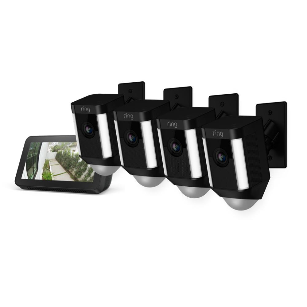 4-Pack Spotlight Cam Mount with Echo Show 5 - Black
