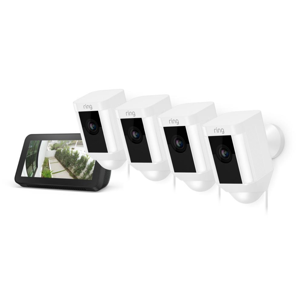 4-Pack Spotlight Cam Wired with Echo Show 5 - White