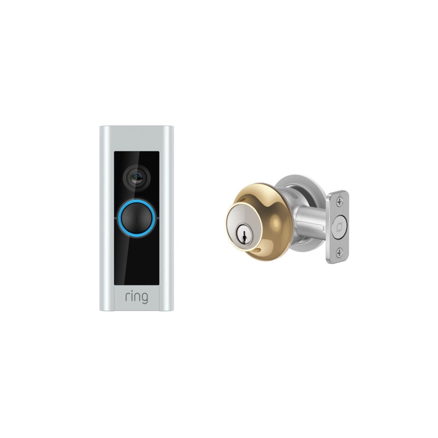 Video Doorbell Pro and Level Lock - Touch Edition - Polished Brass