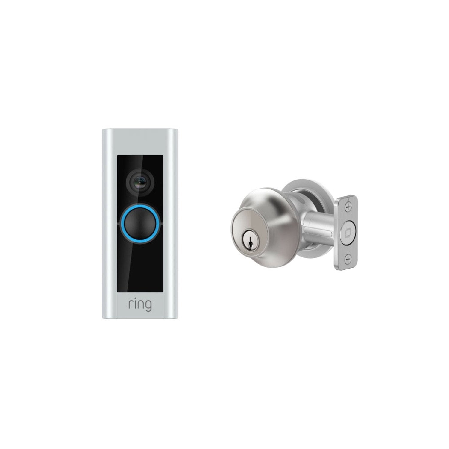 Video Doorbell Pro and Level Lock - Touch Edition - Satin Chrome