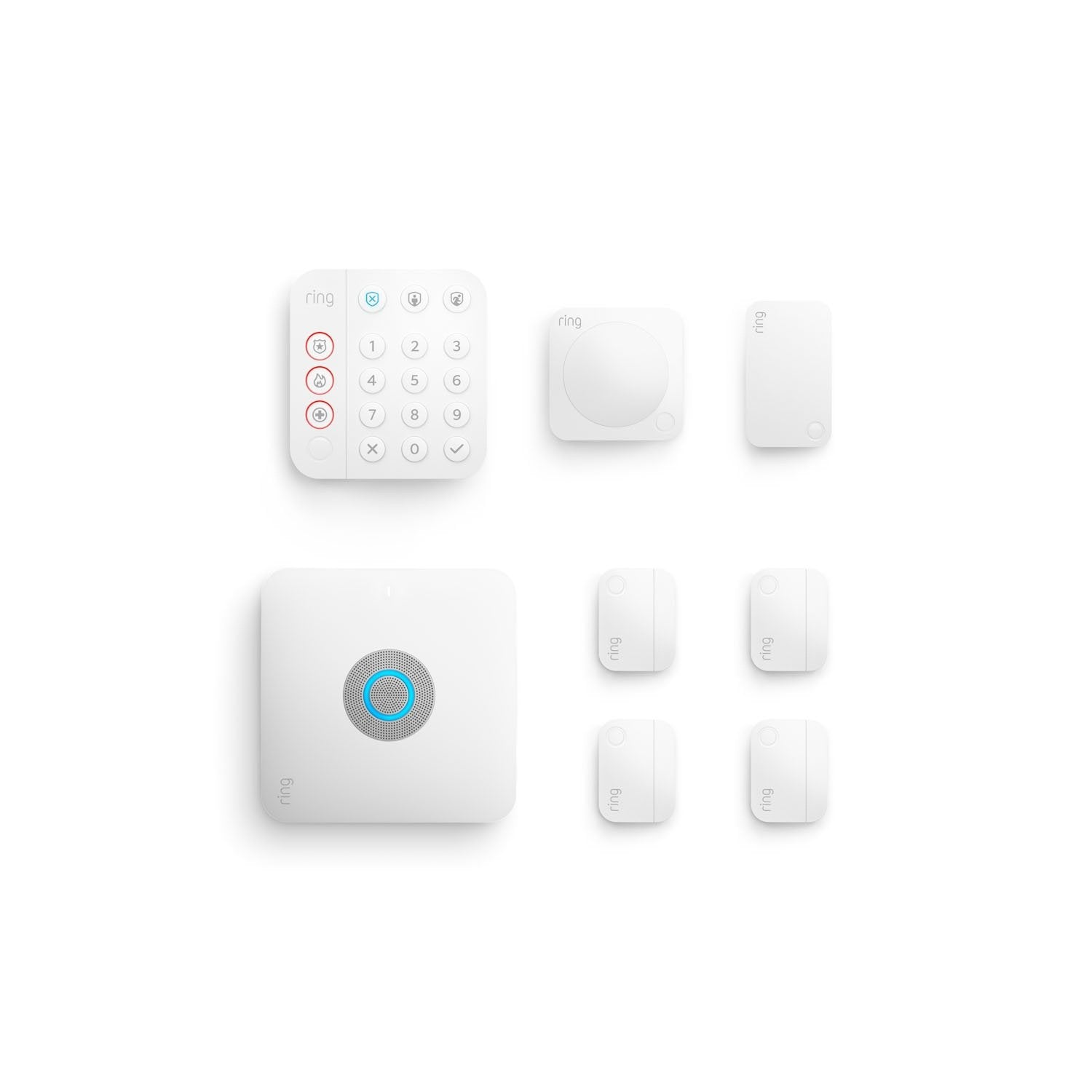 Alarm Pro Security Kit, 8-Piece (for built-in eero Wi-Fi 6 router) - White