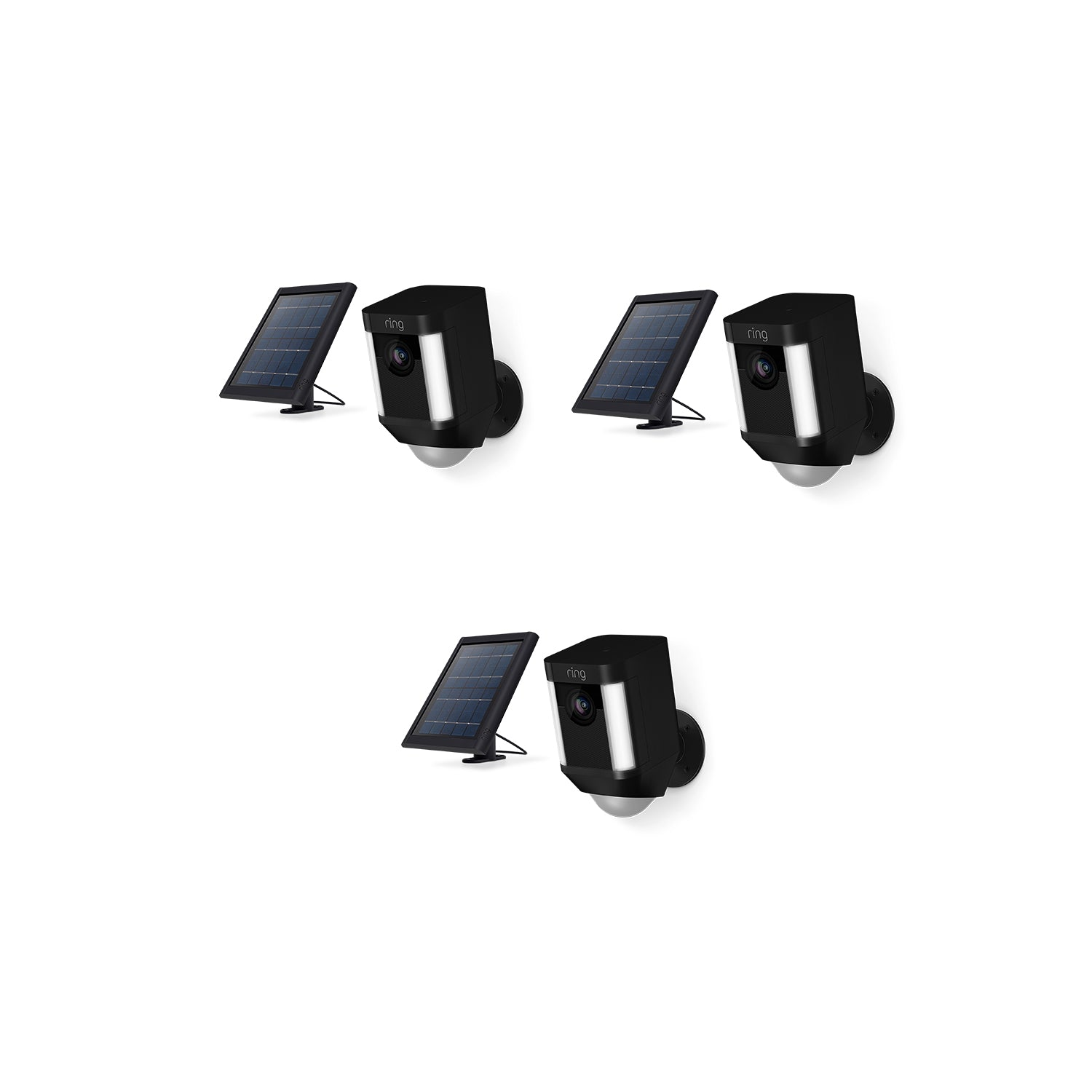 3-Pack Spotlight Cam Solar - Black