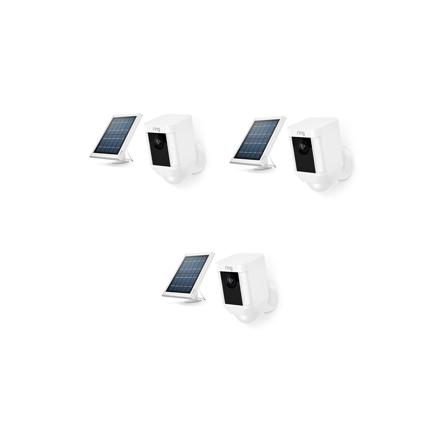 3-Pack Spotlight Cam Solar - White