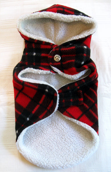 Red Plaid Winter Hoodie