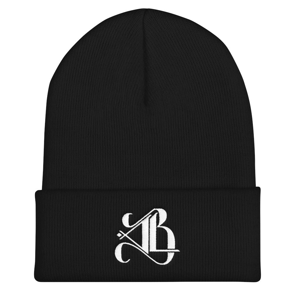 Logo Beanie - White Embroidery